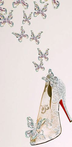 Christian Louboutin Cinderella shoes so much better than glass. only 20 pairs being made . wonder which celeb will be rocking these Louboutin High Heels, Red High Heels, Christian Louboutin Outlet, Christian Shoes, Cinderella Shoes, Cinderella Slipper, Cinderella Wedding, Silver Heels, Designer Shoes