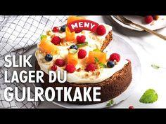 Slik baker du gulrotkake - YouTube Tapas, Cheesecake, Snacks, Baking, Desserts, Food, Youtube, Tailgate Desserts, Appetizers