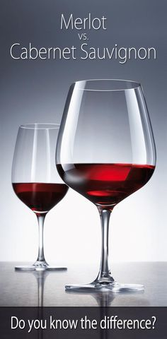 Cabernet Sauvignon and Merlot are two wines that share many similarities but are also very different. Let's compare these two popular types of wine.