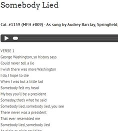 """""""Somebody Lied"""" Cat. #1159 (MFH #809) - As sung by Audrey Barclay, Springfield, Missouri on September 19, 1970. Courtesy: Missouri State University Archives, Springfield, MO (USA)."""