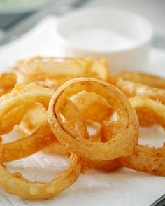Beer-Battered Onion Rings by Martha Stewart