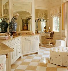 I seem to be drawn to this color combination of beige and white (see floor).