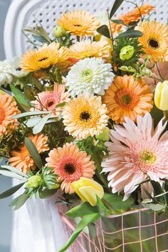 Wonderful gerbera bouquet #pinkgerberas #whitegerberas #floral #flower #inspiration #colouredbygerbera #dutchgerbera
