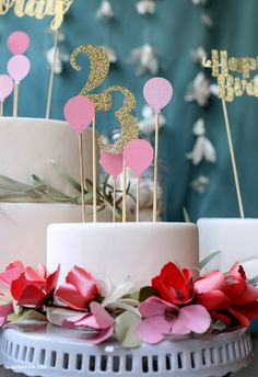 40th Birthday Cake Topper, 40th Cake, Number Cake Toppers, Diy Cake Topper, Cricut Cake, Paper Cake, Cake Decorating Tips, Cake Tutorial, Cupcake Cakes