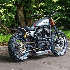 Custom Martini Harley-Davidson XL883R by: { @shawspeed } _______________________ Tag your bike to be featured #BikeHeads _______________________ #caferacer #bmw #bike #motorcycle #moto #triumph #yamaha #ducati #harley #honda #mvagusta #motogp #bikes #biker #engine #twowheels #cycle #cb500 #kawasaki #cafe #custom #vintage #racer #caferacerporn #bikelife #bobber #sportsternation #sportster #chopcult