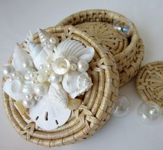 Beach Decor Seashell Coaster Set of 4  by beachgrasscottage, $20.00