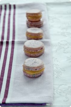 Lavender Macarons with Ruby Red Grapefruit Prosecco Curd