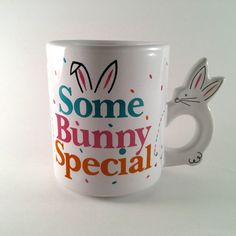 This is a great coffee or tea mug for Easter, for spring, or for anyone who likes rabbits... It makes a great gift for some bunny special to you.
