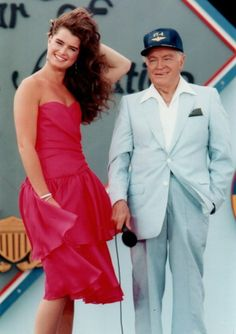 Brooke Shields with Bob Hope for the USO.
