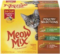 Meow Mix Poultry Selections Variety Pack of, 24-Count