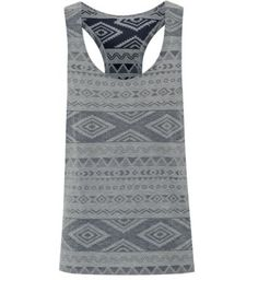 This would look great in my summer wardrobe. Grey Racer Back Aztec Print Vest