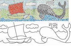 Manualidades para niños de 2 años. Técnica de mosaico en collage