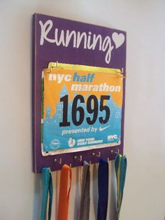RUNNING medals holder . christmas gift ideas for runners. Now it's time to reward yourself with a race bibs display and perhaps also add some medals hooks!! #christmasgiftsforrunners #christmasgiftideas #giftsforrunners