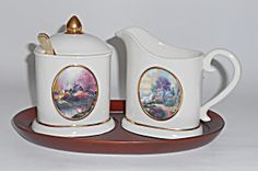 Avon China Thomas Kincade Creamer/sugar Set