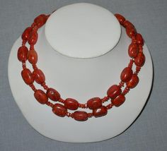 Fab Sponge Coral Chunky Beaded Necklace #StrandString