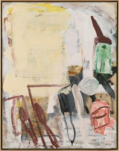 Roy Oxlade  Tins and Brushes, 1995  signed  Oil on canvas  92.2 x 71.9 cm, 36 1/4 x 28 1/4 ins 94.8 x 74.5 cm, 37 3/8 x 29 3/8 ins framed