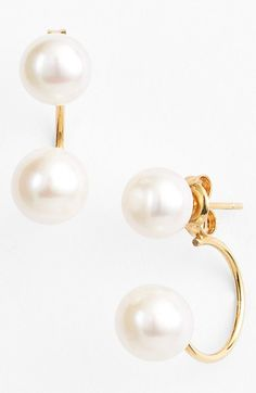 Free shipping and returns on Argento Vivo Pearl Drop Back Earrings at Nordstrom.com. Beautiful freshwater pearls lend classic radiance to contemporary earrings designed with one pearl at the front and one that drops down behind the earlobe.