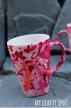 DIY Nail Polish Marble Mug