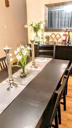 Dining Room Ikea Bjursta Hemnes Stefan Kaustby Table Chairs Buffet Server