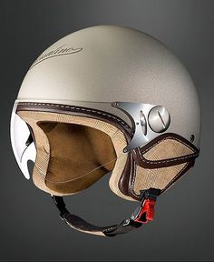 Love the old-world helmet Cool Motorcycle Helmets, Cool Motorcycles, Motorcycle Style, Vintage Motorcycles, Motorcycle Accessories, Bicycle Helmet, Scooter Helmet, Motorcycle Jackets, Scooters