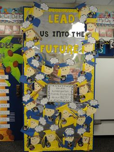 Graduation Bulletin Board with CTP's Dots on Yellow border!