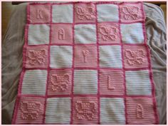 free crochet bobble stitch letter patterns - Google Search