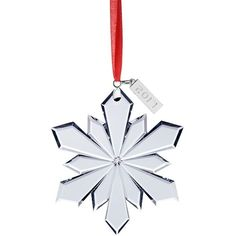 Celebrations by Mikasa® 2017 Collectible Snowflake Christmas Tree... (185 DKK) ❤ liked on Polyvore featuring home, home decor, holiday decorations, snowflake christmas ornaments, snowflake ornaments, snowflake christmas tree ornaments, snow flake ornaments and hand ornaments