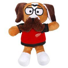 Detroit Red Wings Moustache Dog Plush - $11.99