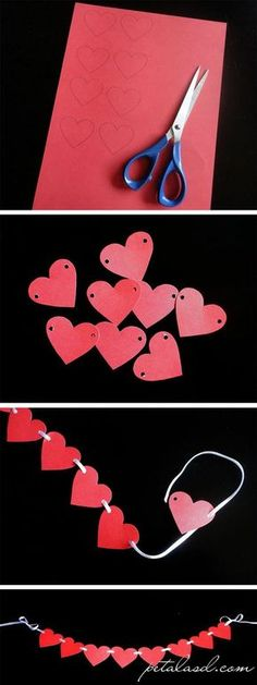 Ideas for origami diy decoration valentines day Valentine Day Crafts, Valentine Decorations, Be My Valentine, Holiday Crafts, Valentine Cupcakes, Valentine Banner, Heart Cupcakes, Pink Cupcakes, Wedding Decorations