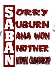 Couldn't help but laugh when I saw this sorry auburn fans.........