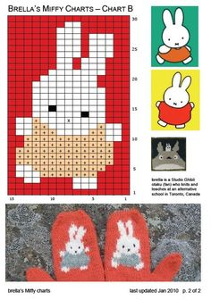 Mittens Pattern, Knit Mittens, Knitted Gloves, Knitting For Kids, Baby Knitting, Knitting Charts, Knitting Patterns, Chart Design, Animal Design