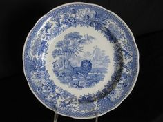 Spode Blue Room Collection Aesops Fables 10 Inch Plate Made in England  #Spode