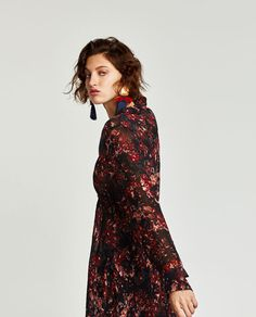 Zara United States, High Neck Dress, Blouses, Collection, Shopping, Tops, Dresses, Women, Fashion