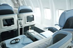 Best Business-Class Airline with Coach-Class Prices: La Compagnie - The giant airlines will charge you around $1,200 for a nonstop summer round-trip flight between New York and Paris in a cattle-car economy cabin. But two people paying $1,495 each can move up to an angle-flat business-class seat, with business-class cabin service, on La Compagnie, the niche French airline offering low-cost business-class service from Newark to London/Luton and Paris/DeGaulle. NBNB