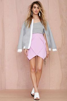 Jagged Little Frill Skirt - Lavender - Skirts | Clothes | All