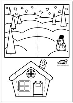 Christmas Crafts For Kids To Make, Xmas Crafts, Kids Christmas, Winter Kids, Winter Art, Classroom Art Projects, Pop Up Cards, Business For Kids, Preschool Crafts