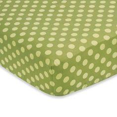 Sweet Jojo Designs Forest Friends Fitted Crib Sheet in Green Dot