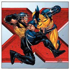 Photo of Wolverine vs Ultimate Wolverine for fans of Wolverine 2185755 Hq Marvel, Marvel Comics Art, Marvel Comic Universe, Marvel Heroes, Wolverine Images, Wolverine Art, Logan Wolverine, Comic Book Artists, Comic Books Art