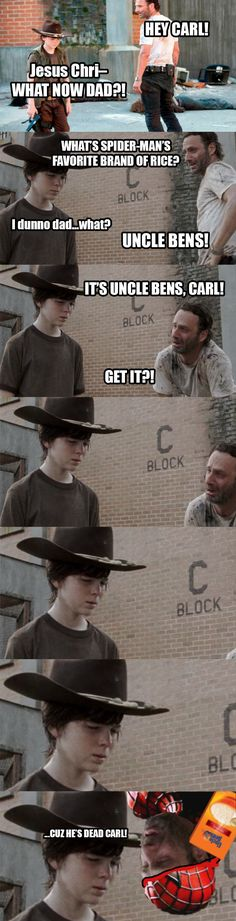 Rick and Carl I don't know who makes these but this is some funny shit!! Lol