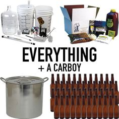 DIY BEER BREWING!     EVERYTHING + A CARBOY - Complete Brewing Equipment Kit #2  $176.99