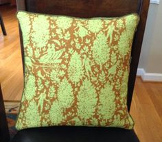 "Quilted Pillow Westminster fabric by Amy Butler ""Cameo"". If you like, see Etsy Shop ""Byhand66"""