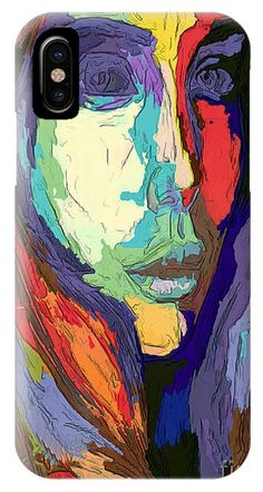 Modern Impressionist Female Portrait IPhone Case
