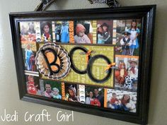 Jedi Craft Girl: Boo Photo Art Thingy -- oooo... such a fun idea for displaying Halloween photos!