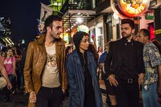 Cassidy, Tulip and Jesse in New Orleans. Preacher.