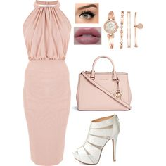 A fashion look from December 2015 featuring Charlotte Russe pumps, Michael Kors handbags and Anne Klein bracelets. Browse and shop related looks.