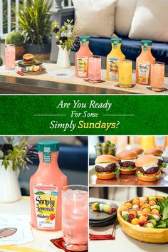 The perfect Sunday afternoon flavors bring everyone together. Share a glass of Simply with your squad.