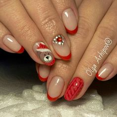 Winter Nails Designs - My Cool Nail Designs Nail Art Noel, Xmas Nail Art, Xmas Nails, Christmas Nail Art Designs, Winter Nail Art, Winter Nail Designs, Holiday Nails, Christmas Nails, Classy Nails