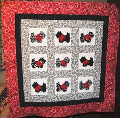 Scotty Dog (Scotties) Baby Quilt - Handmade | eBay