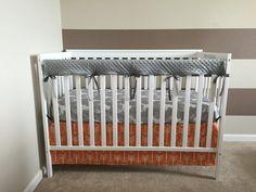 3-Sided Orange Arrows Crib Skirt by 3LollipopGirls on Etsy