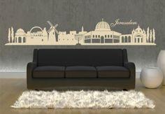 Jerusalem Skyline Wall Decal - Great Interior Decor Sticker Design